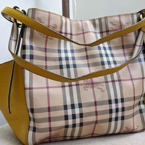 BURBERRY Haymarket Canterbury tote bag purse